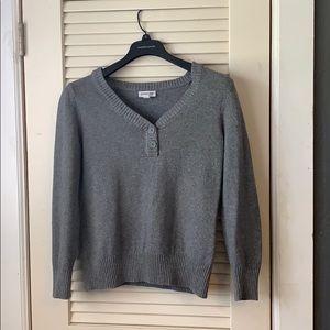 St. John's bay crew neck grey sweater